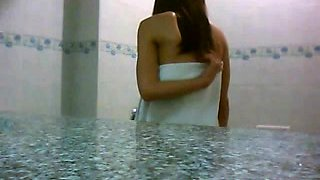 Spycam films Asian girl in shower