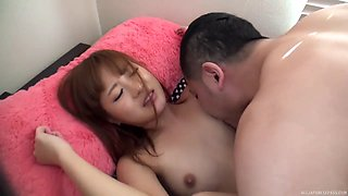 Strong Japanese sex for the shy amateur step daughter