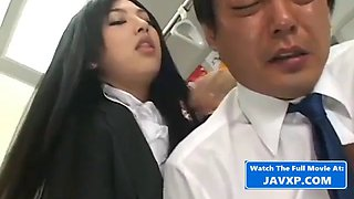 Asian babe fucks on the bus