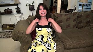 American housewife Carrie playing with herself