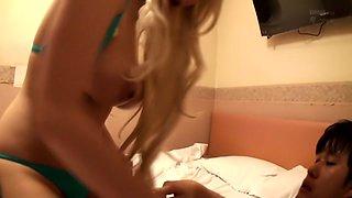 Hottest Japanese slut Akane Yoshinaga in Amazing JAV censored Bathroom, Hairy scene