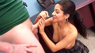 Latina MILF is banging the perverted school principal
