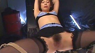 Incredible Japanese chick Saki Anz in Hottest Stockings/Pansuto, Dildos/Toys JAV scene
