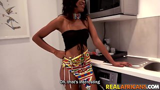 Real hood chick fucked in kitchen by BBC