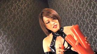 Fabulous Japanese chick in Incredible HD, Latex JAV movie