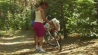 sex bike tour with ugly 71 years old mom