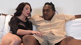 Hot White Babe And Dredd MONSTER BLACK COCK