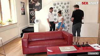 VIP SEX VAULT, Czech Girl Barbara Bieber At Her First Casting