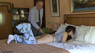 Daughter gets belt for masturbating