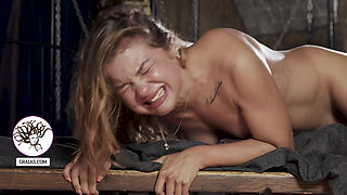 Tight babe crying from brutal treatment