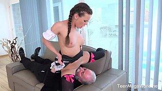 Lita Phoenix - Sexy Maid Serves Old Man