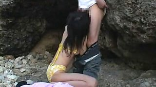 Amazing Japanese girl Arisa Kanno in Hottest Beach, Outdoor JAV movie