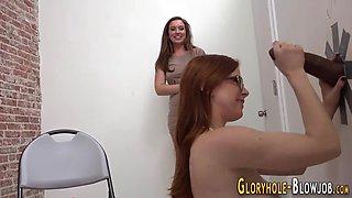 gloryhole babes swap jizz