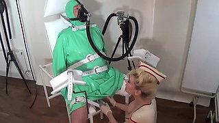 Rubber Breath Control Bubble Bottle Rubber Mistress MadameC