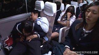 Shameless Blowjob In The Bus