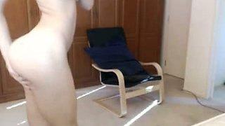 Emo teen gets naked in webcam
