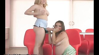 Pregnant girl loves sucking and stroking part5