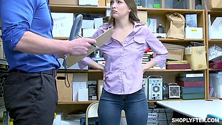 Kinky girl Izzy Lush has to fuck with a naughty security guard