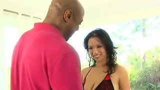 Mia Rider is a cute Asian chick who's a little on the