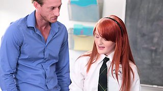 InnocentHigh- Sexy Redhead Fucks Teacher