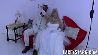 LACEYSTARR - Granny bride fed with cum after BBC pounding