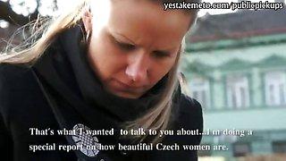 Innocent Czech girl takes money from stranger for public sex