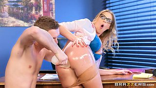 big oiled ass gets fucked on the office table