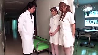 Japanese Large Boob Erotic Nurses two