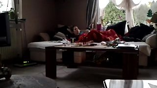 Caught my wife Masturbating under blanked with her nev Dildo. Caught her on my spycam. She has no idea.
