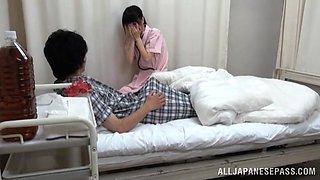 Slutty Asian nurse bones her patient