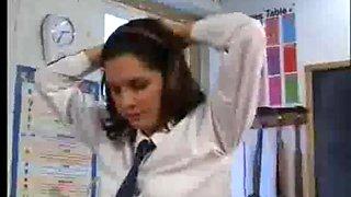 Ruler on bare bottom of schoolgirl samantha