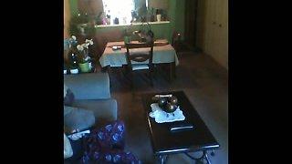 Flashing Cuban Milf indoor