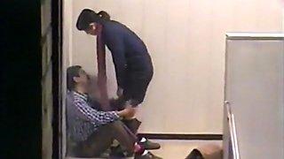 Voyeur busts a japanese student riding a teacher on campus !!!