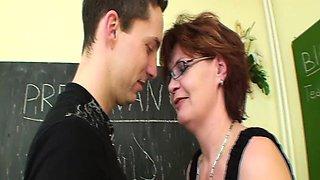 Redhead Mature Teacher Sex In Detention Class