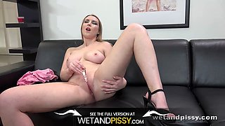 Desperate To Pee Blonde Gets Drenched In Her Own Piss