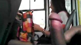 WTF! check dat mate Spanking da monkey on da bus near a gurl