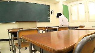 Stunning Japanese teacher Mayumi Takara caught her student