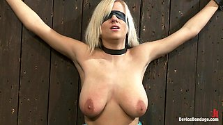 Big Titty Blonde Abused with Sex Machinery