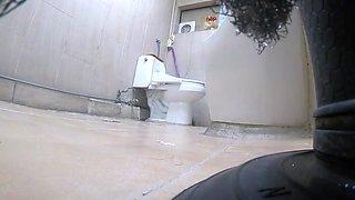 Korean girl using toilet part 5