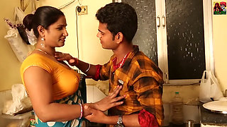 Sexy Indian Aunty with young lover