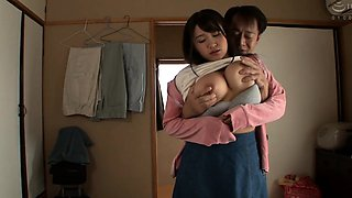 Voluptuous Japanese wife in desperate need of a good fucking