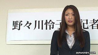 Japanese delegation is fucking slender Asian girl with big boobs Reiko Kobayakawa