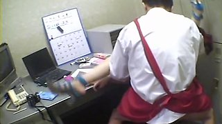 Pigtailed Japanese screwed in spy cam office sex video