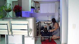 Kathalina777 - I Fuck A Stranger In The Kitchen Whil