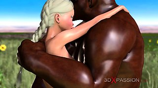 Trans sweet college girl fucked hard by minotaur outdoor
