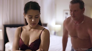 Old perv enjoys beautiful young body and wet pussy of pretty babe Alina Lopez