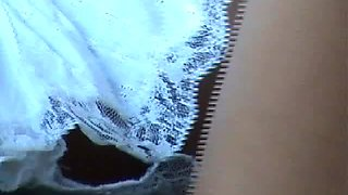 Hot upskirt no panties voyeur video