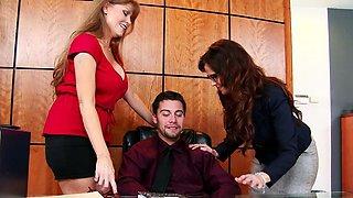 Milf office babes Darla Crane and Syren De Mer share dick