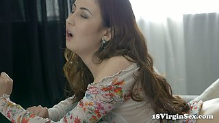 Romantic sexy buxom Shelby has nothing against proper doggy drilling