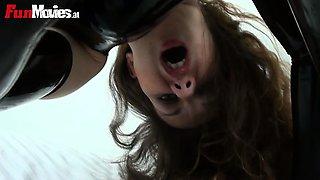 Horny babe fucks her pussy with vibrator